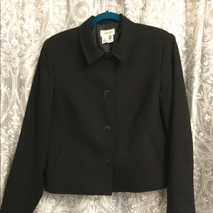 Black wool blazer from Talbots- size 12